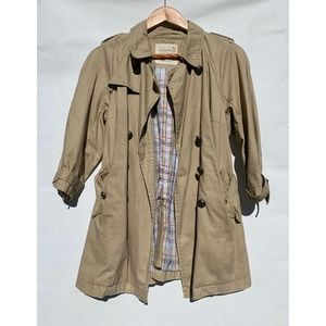 Free People Cotton Trenchcoat Small